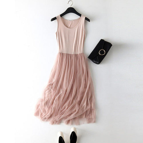 Summer dress 2019 women Sexy lace Casual long dress women pink black Basic Beach Party Dresses Female Plus size vestidos mujer