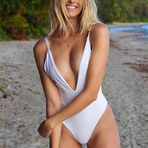 4c1614aab4 Swimwear Women One Piece Swimsuit Fused Swimming Suit Solid Monokini  Maillot De Bain Femme 2019 Sexy Push Up Bathing Suit Bather