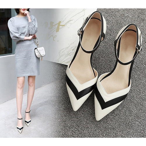 Women Pumps High Heels Thin Heel Kitten Heels Ladies Shoes Stiletto Wedding Shoes Sandals Pointed Toe Shoes