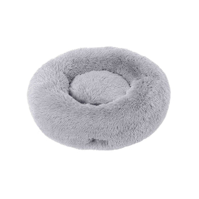 Charlie's Faux Fur Fuffy Calming Pet Bed Nest - Grey