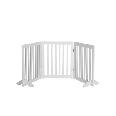 Charlie's Freestanding Pet Gate - White