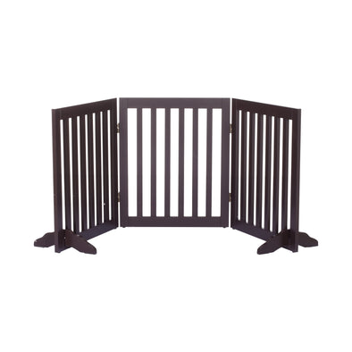 Charlie's Freestanding Pet Gate - Brown
