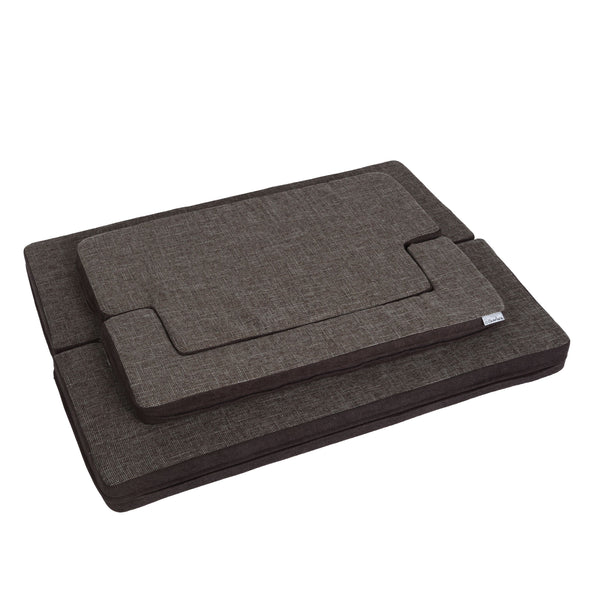 Padded Support Mat with Bolster Rectangular Grey/Brown