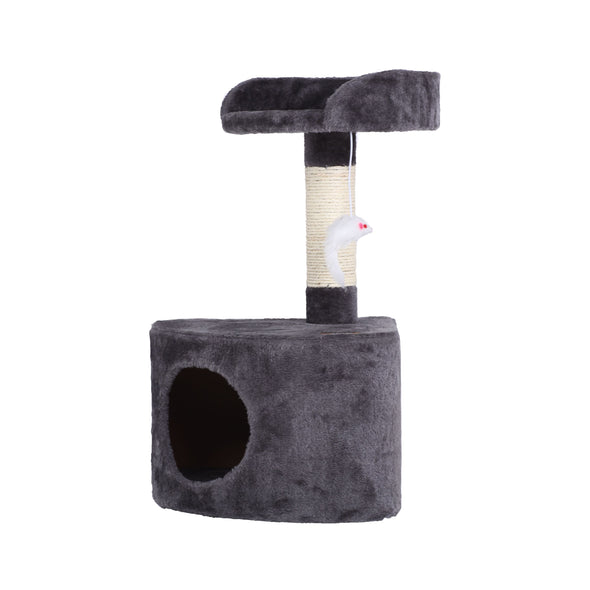 Cat Tree with Round House - Charcoal