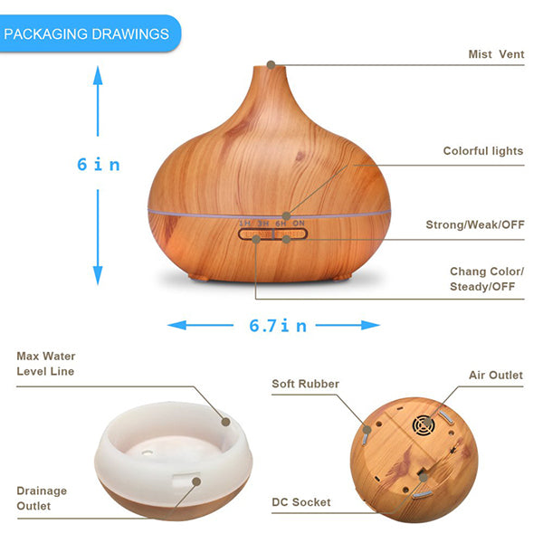 Lightwood Humidifier with LED light