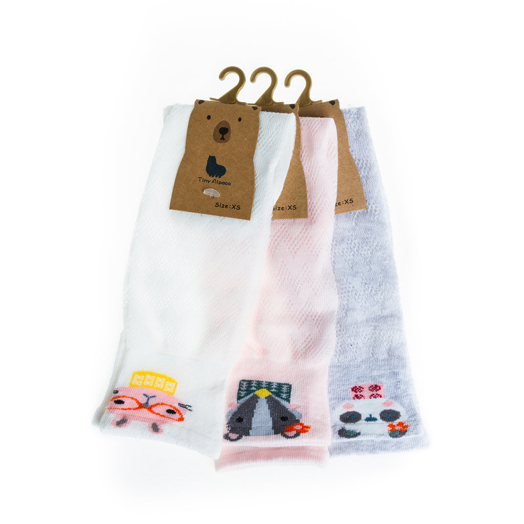 Sock Set 5 (White, Pink, Grey)