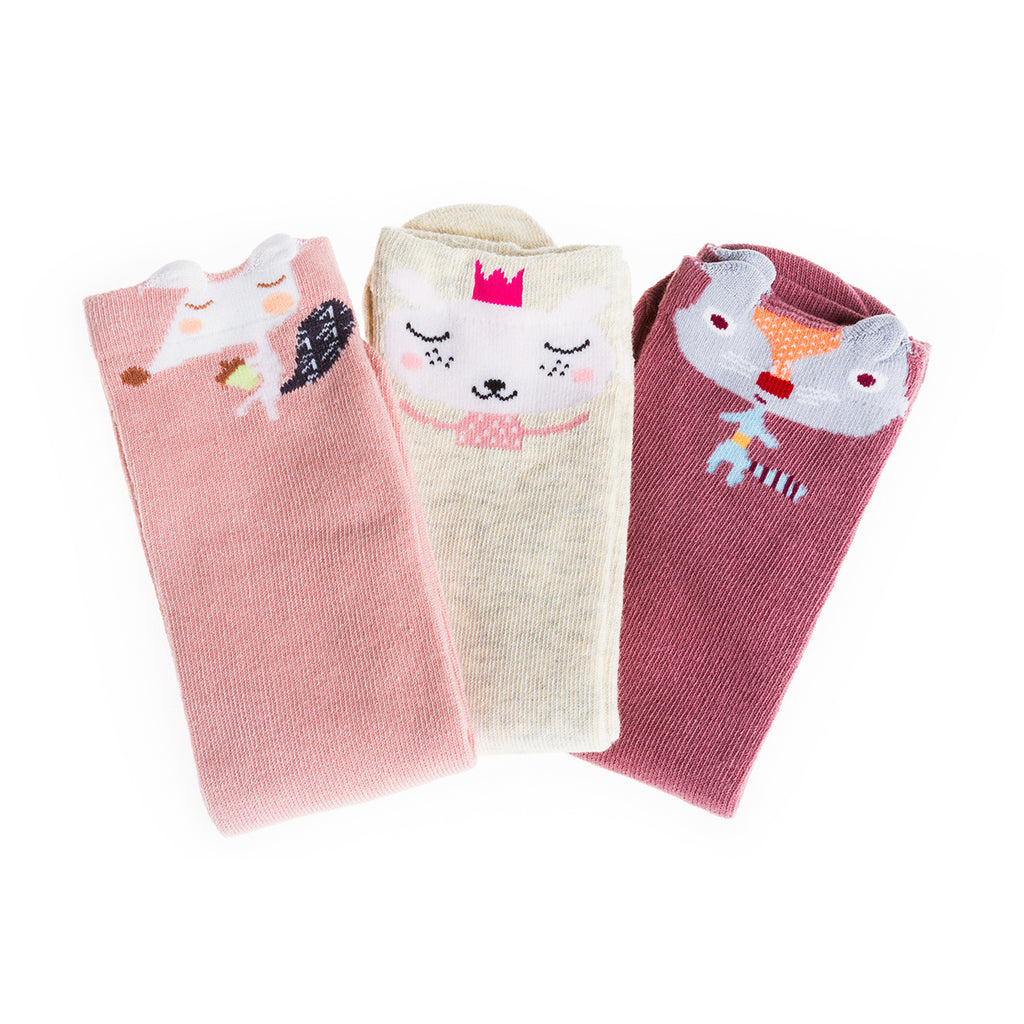 Sock Set 2 (Pink, White, Dark Red) 30cm