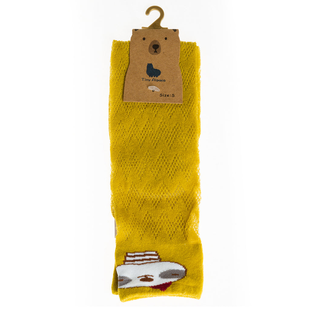 Sock Set 4 (Blue, White, Mustard)