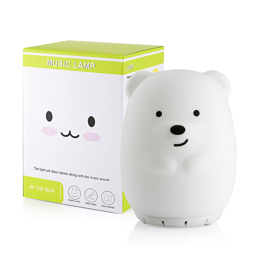 Bear night light speaker