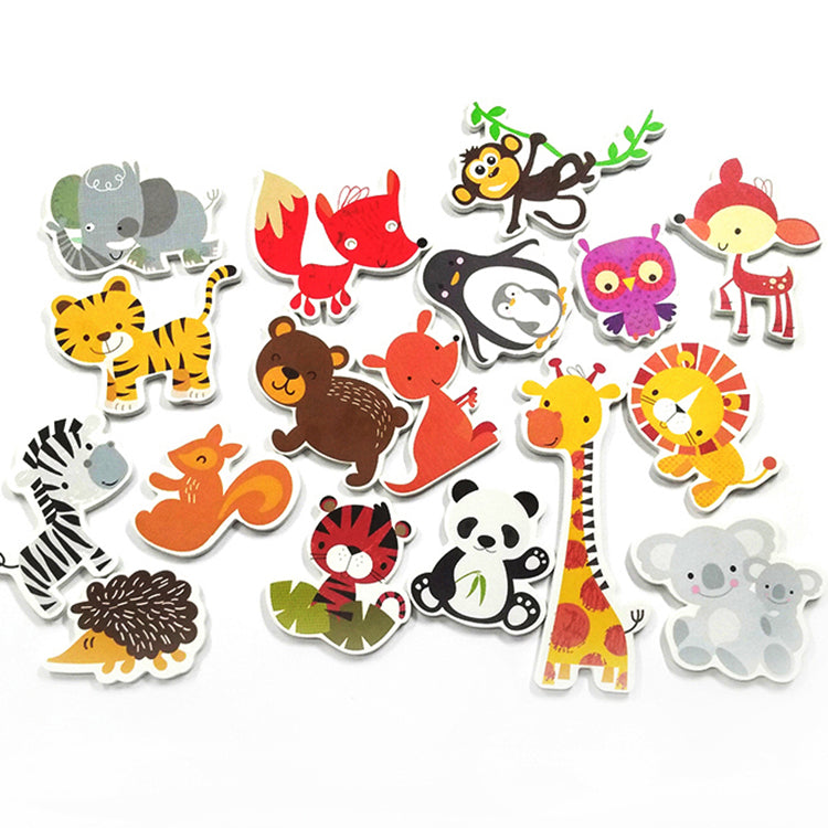 Animal Foam Bath Set (Land) - 18 Pcs