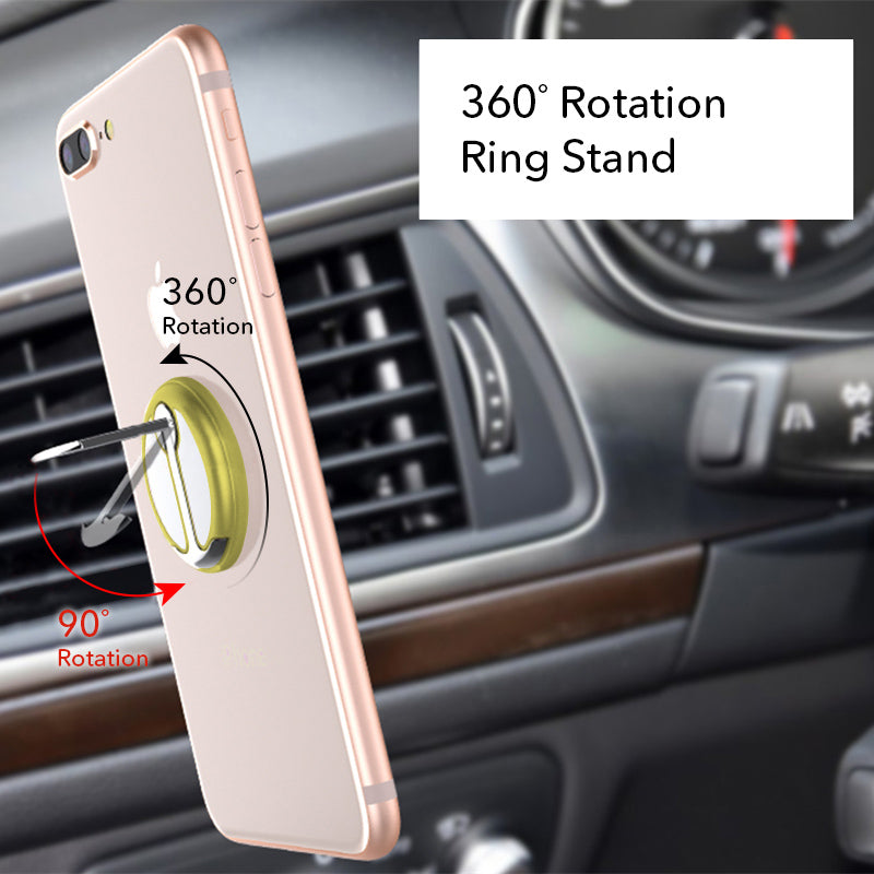 Gold mobile phone grip stand