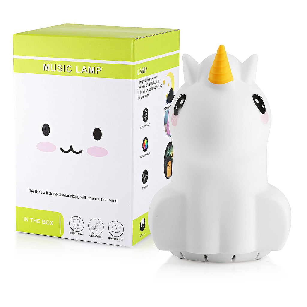 Unicorn night light speaker