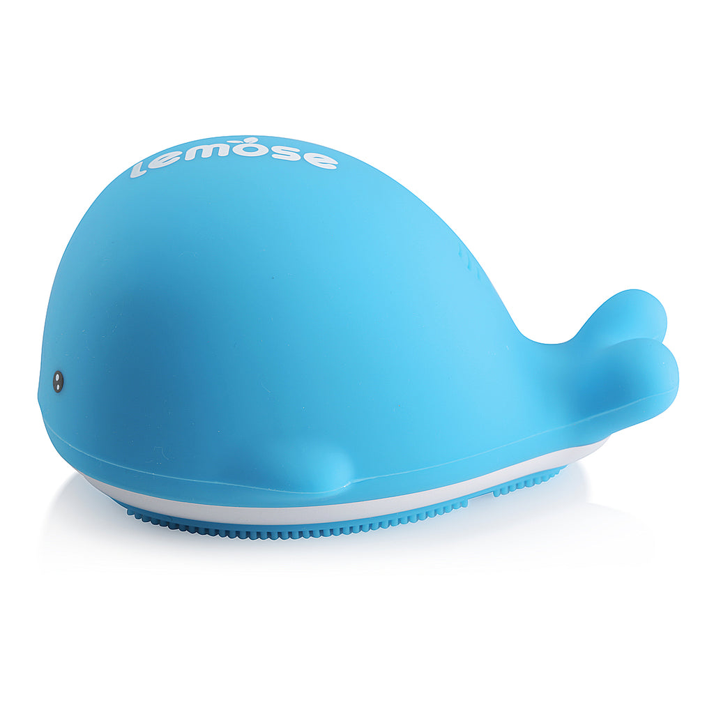 Whale Bath Brush - Blue