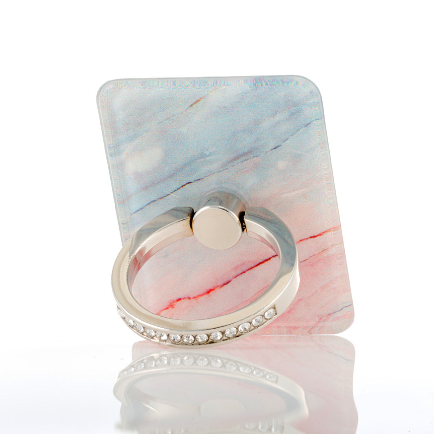 Pink/blue mobile phone ring stand
