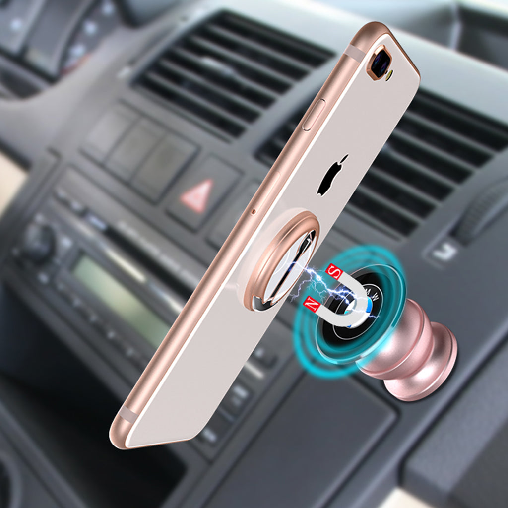 Pink mobile phone grip stand