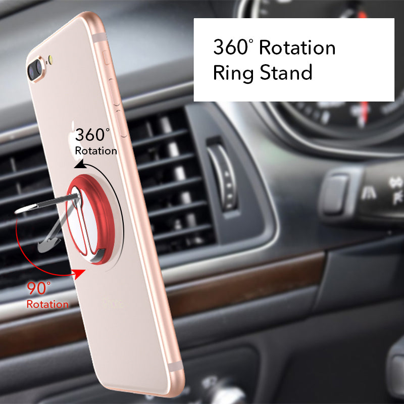 Red mobile phone grip stand