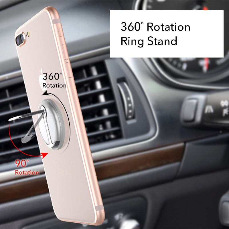 Silver mobile phone grip stand