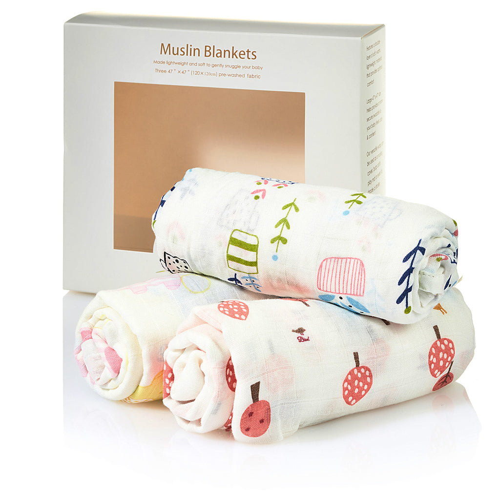 Swaddle Blanket Set of 3 - Color