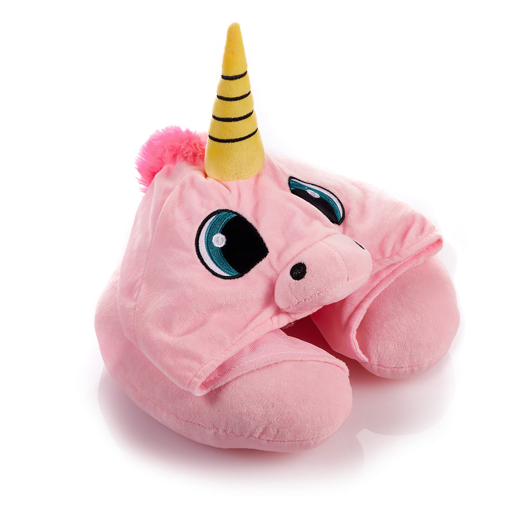 Unicorn Travel Pillow Hood