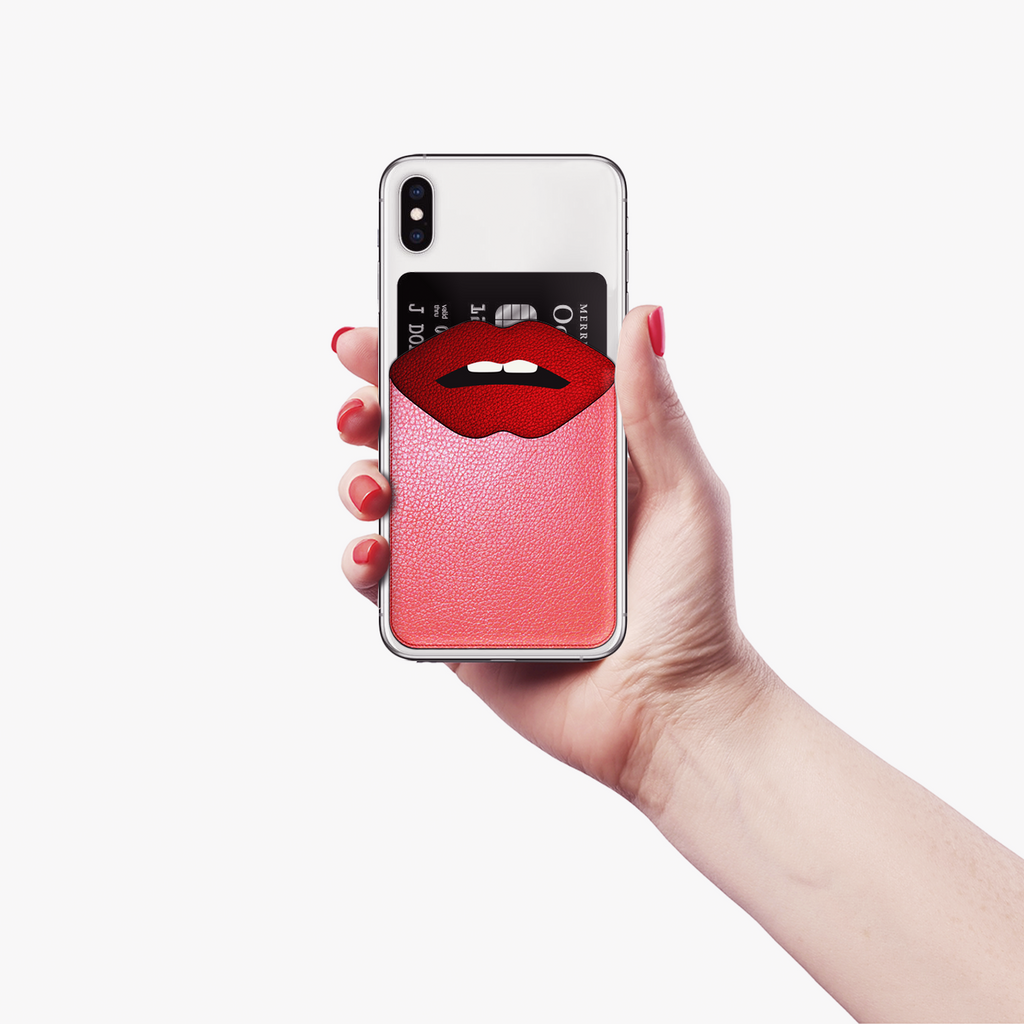 Red lips mobile wallet