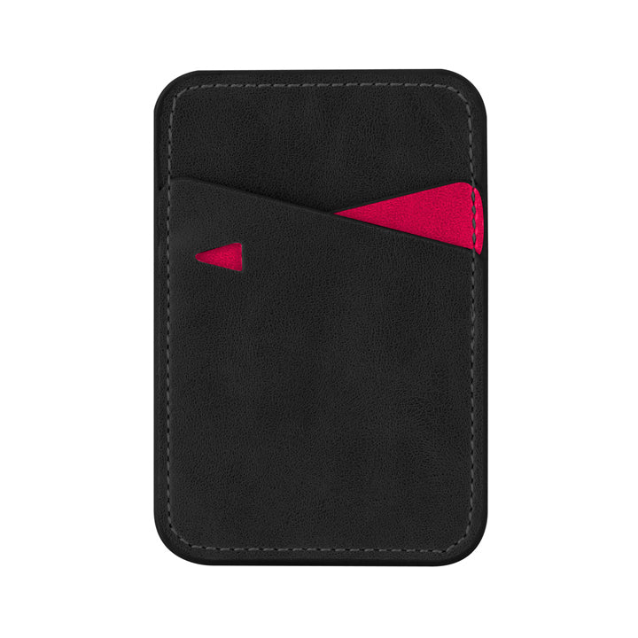 Black leather mobile wallet