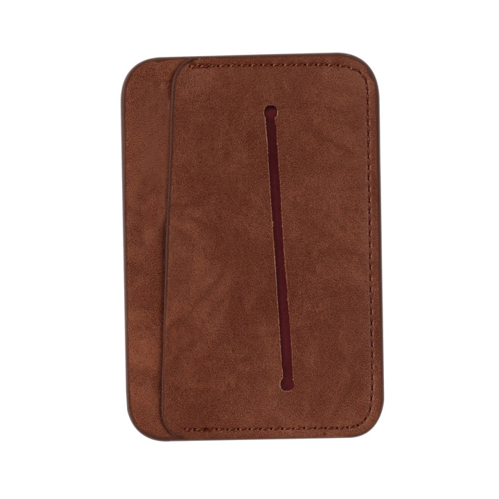 Brown leather mobile wallet