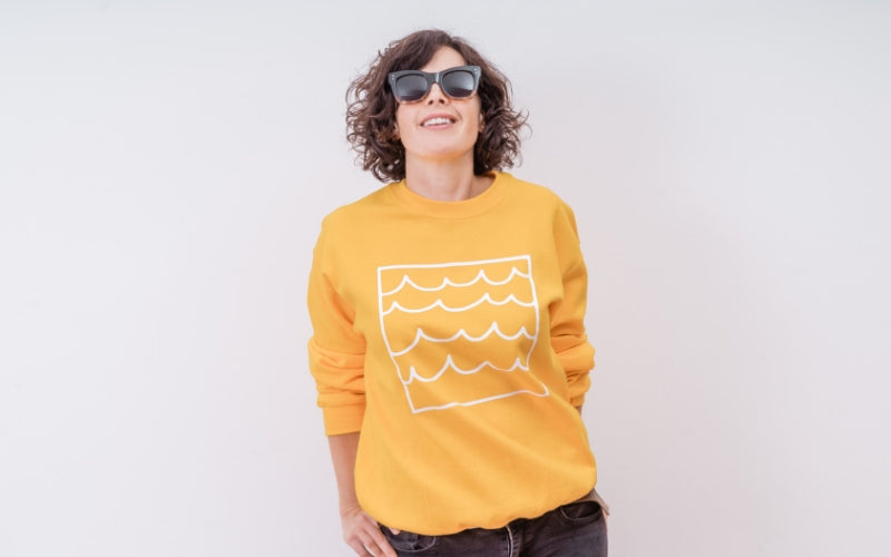 sunshine and waves sweatshirt- kato's sister