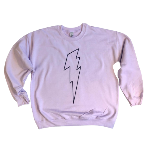 Karma Violet Sweatshirt (Black Bolt)