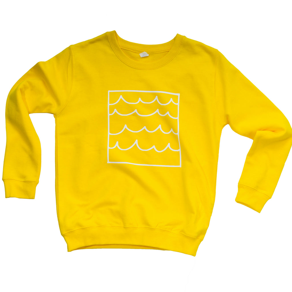 Yellow Kids Sunshine and Waves Sweatshirt