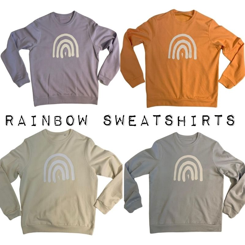Rainbow & Bolt Sweatshirt (Sky)