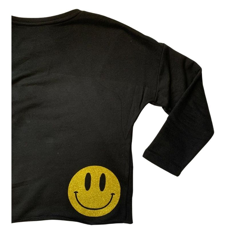 Glitter Smiley Sweatshirt