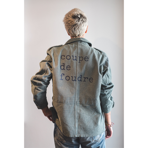 coupe de foudre recycled military jacket