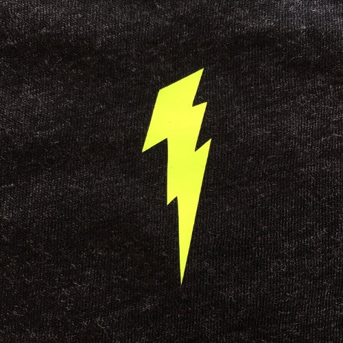 Black Baby Vest With Neon Lightning Bolt Detail (single)