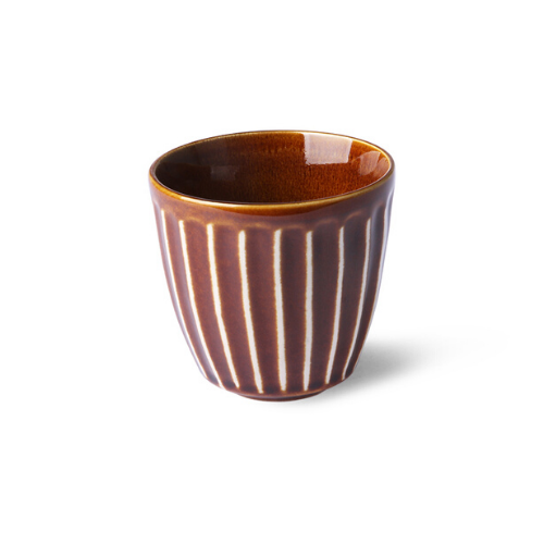 Kyoto Striped Stoneware Mug (Brown)