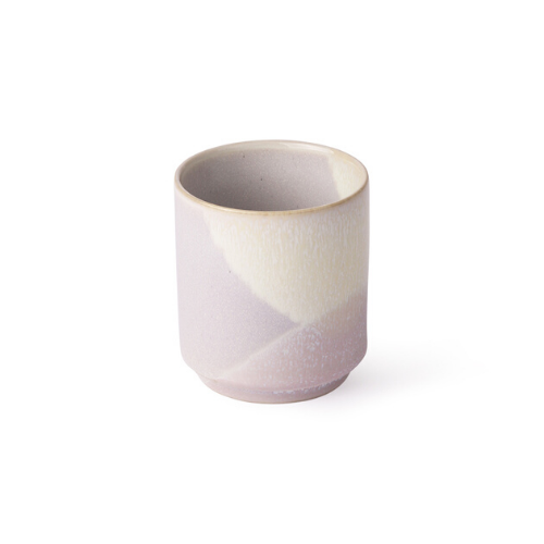 coffee mug in lilac and lemon