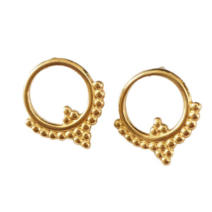 Bohemian Small Orb 14k Gold-Plated Earrings