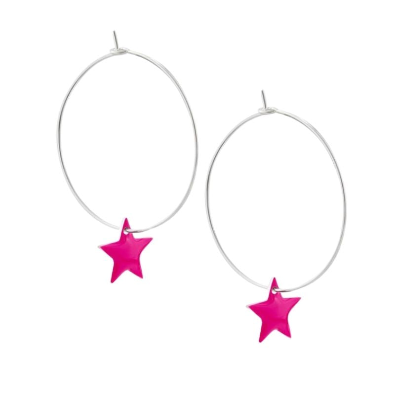 Star Hoop Earrings (choose colour)