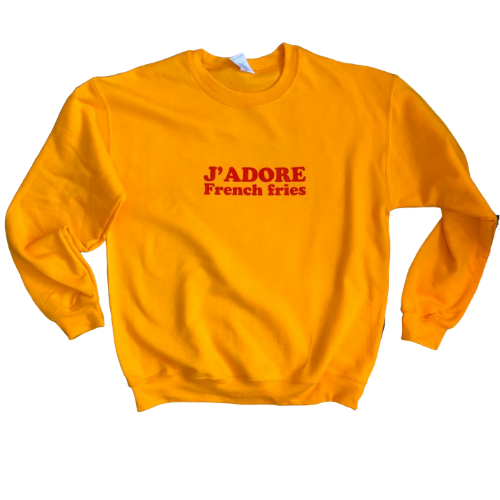 J'Adore French Fries Sweatshirt