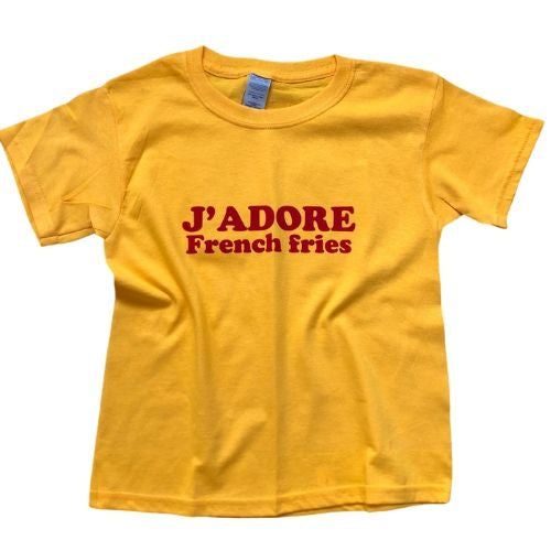 j'adore french fries tshirt
