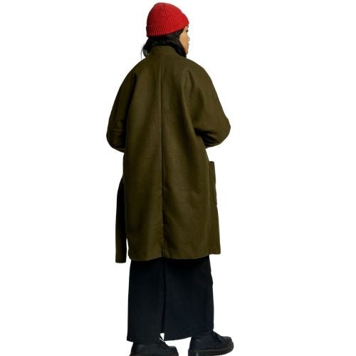 Kung Fu Wrap Coat (Olive) by Komodo