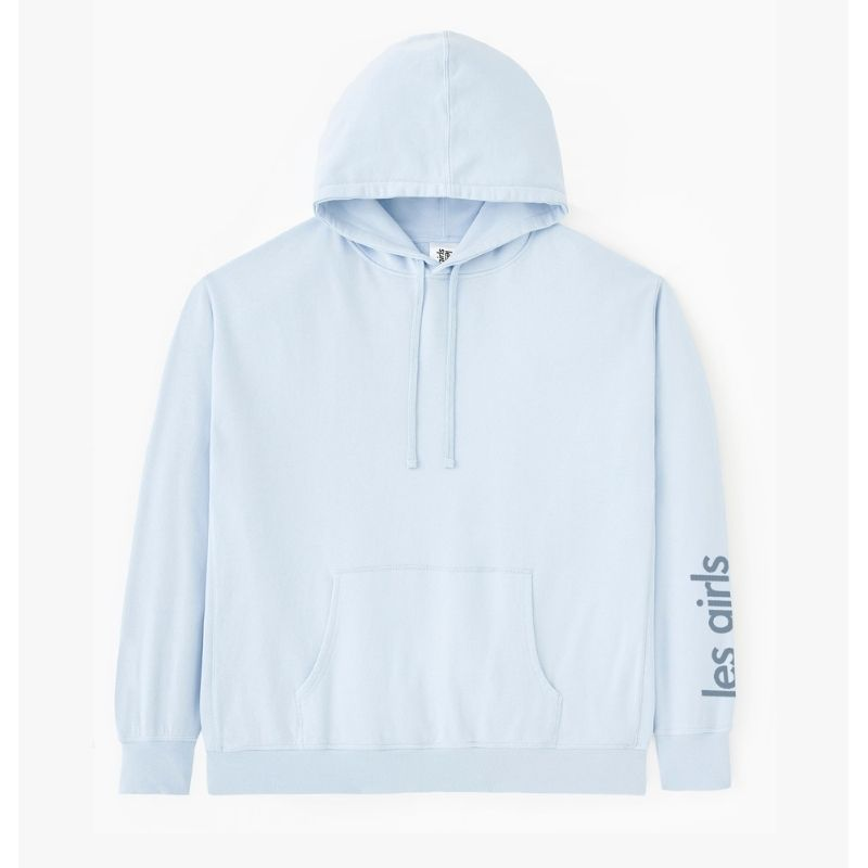 les girls les boys oversized blue hoodie