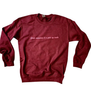 'Pink Carnation and a Pick Up Truck' Sweatshirt