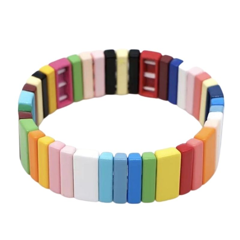 Brights Rainbow Tile Bracelet
