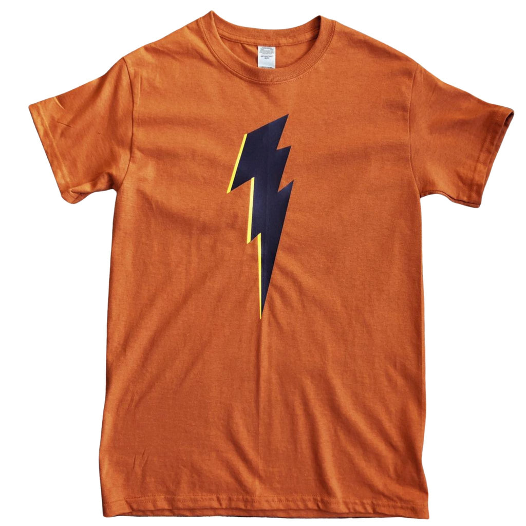 Rust Tee with Navy Bolt