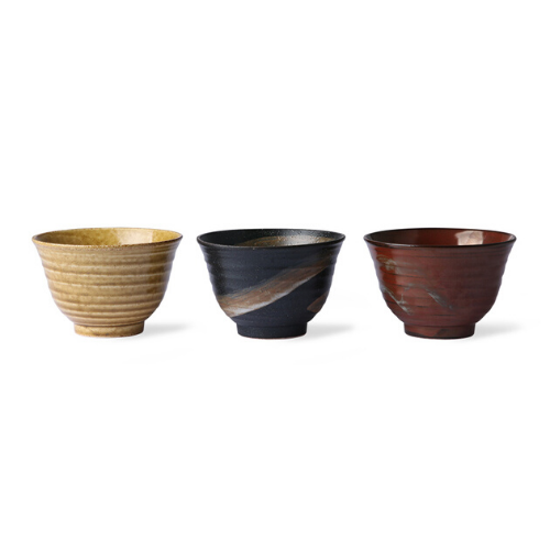 Set of 3 Japanese Matcha Bowls