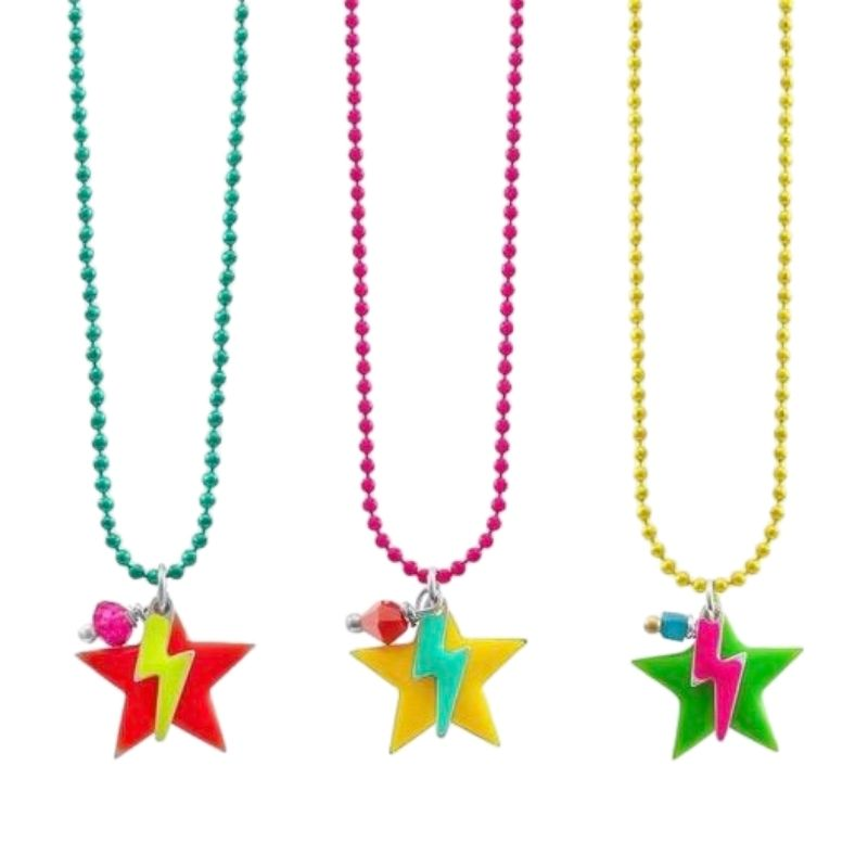 Star and Lightning Bolt Necklace in a Sweetie Box