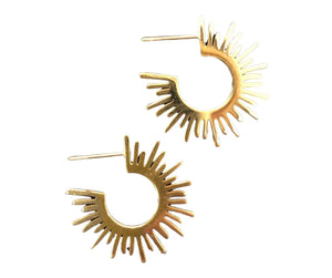 Vintage-Style Spiked 18k Gold-Plated Earrings