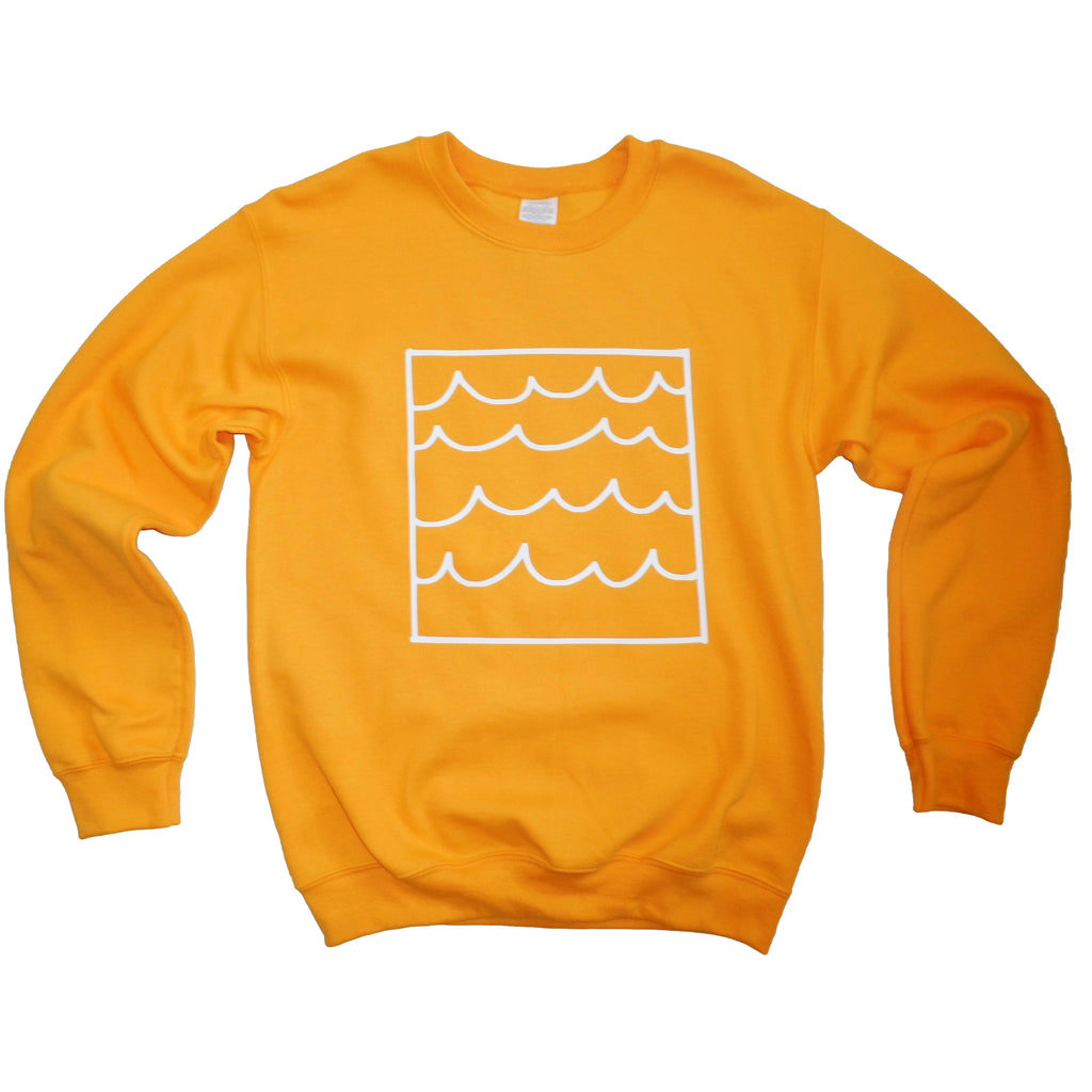 sunshine and waves yellow sweatshirt by syrup and salt