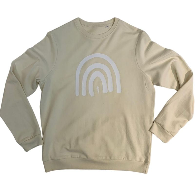 Rainbow & Bolt Sweatshirt (Vanilla)