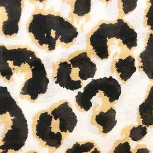 Leopard print scarf with white background